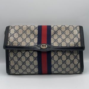 Vintage GUCCI Parfums Supreme Clutch Cosmetic Bag